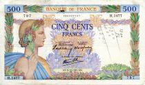 France 500 Francs La Paix - 05-12-1940 - Série H.1477 - TTB