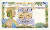 France 500 Francs La Paix - 06-02-1941 - Série A.2503 - TTB