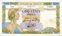 France 500 Francs La Paix - 06-02-1941 - Série G.2359 - TTB