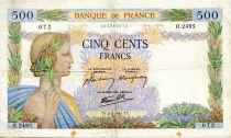 France 500 Francs La Paix - 06-02-1941 - Série O.2495 - TB+