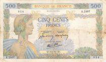 France 500 Francs La Paix - 06-02-1941 Série A.2407 - TB