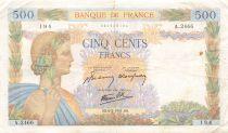 France 500 Francs La Paix - 06-02-1941 Série A.2466 - TB