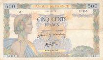 France 500 Francs La Paix - 06-02-1941 Série F.2335 - TB