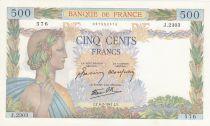 France 500 Francs La Paix - 06-02-1941 Série J.2303 - p.NEUF
