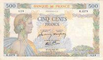 France 500 Francs La Paix - 06-02-1941 Série K.2279 - TB+