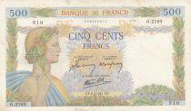France 500 Francs La Paix - 06-02-1941 Série O.2103 - TTB
