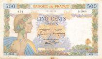 France 500 Francs La Paix - 06-02-1941 Série S.2060 - TB+