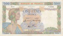 France 500 Francs La Paix - 06-02-1941 Série T.2242 - TTB