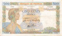 France 500 Francs La Paix - 06-02-1941 Série T.2423 - TB