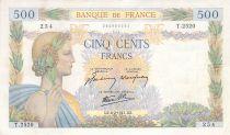 France 500 Francs La Paix - 06-02-1941 Série T.2520 - TTB
