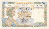 France 500 Francs La Paix - 06-02-1941 Série W.2359 - PTTB