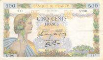 France 500 Francs La Paix - 07-01-1943 Série S.7606 - TB+