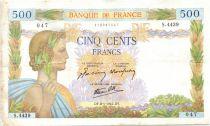 France 500 Francs La Paix - 08-01-1942 Série S.4439