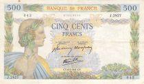 France 500 Francs La Paix - 08-05-1941 Série J.2827 - TTB