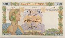 France 500 Francs La Paix - 09-01-1941 Série Y.1808 - TTB+