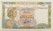 France 500 Francs La Paix - 09-01-1941 Série Z.1805 - TTB+