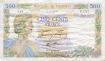 France 500 Francs La Paix - 09-04-1942 Série K.5527 - TB