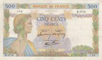 France 500 Francs La Paix - 09-04-1942 Série R.5710 - TTB