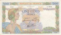 France 500 Francs La Paix - 09-04-1942 Série U.5604 - PTTB