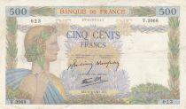 France 500 Francs La Paix - 11-06-1941 Série V.3068 - TTB