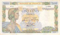France 500 Francs La Paix - 12-02-1942 Série L.4696-635 - SUP