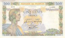 France 500 Francs La Paix - 12-02-1942 Série L.4696-639 - TTB+