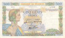 France 500 Francs La Paix - 15-10-1942 Série L.7131 - TTB