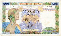 France 500 Francs La Paix - 16-01-1941 - Série A.1931 - TTB