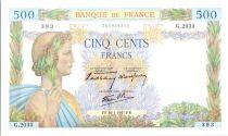 France 500 Francs La Paix - 16-01-1941 - Série G.2033