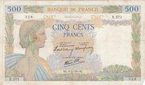 France 500 Francs La Paix - 16-05-1940 Série E.371 - B+