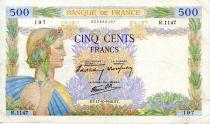 France 500 Francs La Paix - 17-10-1940 - Série R.1147 - TB