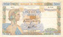 France 500 Francs La Paix - 17-10-1940 Série R.1128 - TB