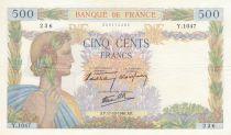 France 500 Francs La Paix - 17-10-1940 Série Y.1047 - SUP