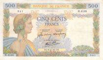France 500 Francs La Paix - 18-12-1941 Série Z.4148 - TTB