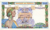 France 500 Francs La Paix - 19-03-1942 - Série Y.4961 - TB+