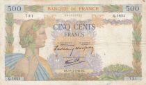 France 500 Francs La Paix - 19-12-1940 Série Q.1654 - TB