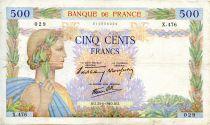France 500 Francs La Paix - 20-06-1940 - Série X.476 - PTTB