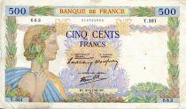 France 500 Francs La Paix - 20-06-1940 - Série Y.501 - TB+