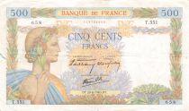 France 500 Francs La Paix - 20-06-1940 Série T.551 - TB