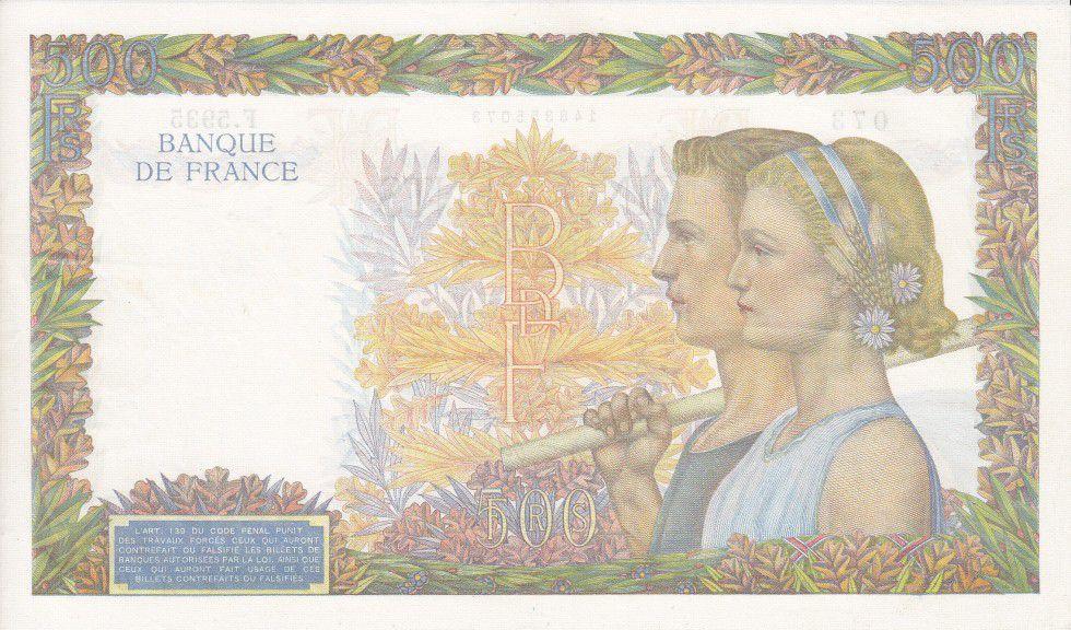 France 500 Francs La Paix - 20-06-1942 Série F.5935