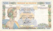France 500 Francs La Paix - 20-11-1941 Série B.3990 - TTB
