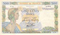 France 500 Francs La Paix - 21-05-1941 Série Q.3018 - TTB