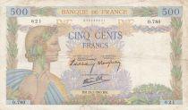 France 500 Francs La Paix - 25-07-1940 Série O.780 - TB+