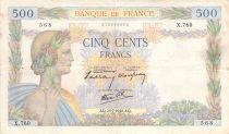 France 500 Francs La Paix - 25-07-1940 Série X.760 - TB
