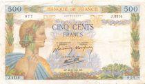 France 500 Francs La Paix - 28-08-1941 Série J.3519 - B
