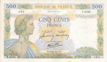 France 500 Francs La Paix - 28-08-1941 Série X.3596 - TTB