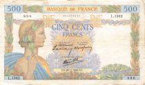 France 500 Francs La Paix - 28-11-1940 Série L.1382 - TB+