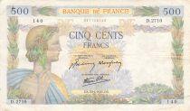 France 500 Francs La Paix - 30-04-1941 Série D.2710 - PTTB