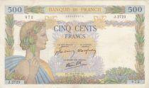 France 500 Francs La Paix - 30-04-1941 Série J.2723 - TB
