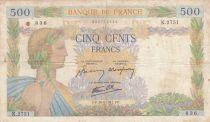 France 500 Francs La Paix - 30-04-1941 Série K.2751 - B+